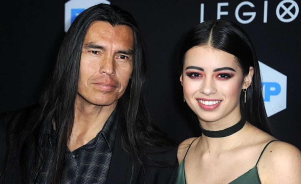Amber Midthunder With Her Father