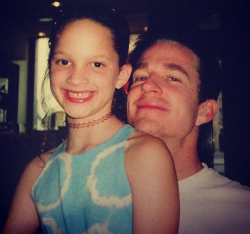 ruby modine with dad in childhood